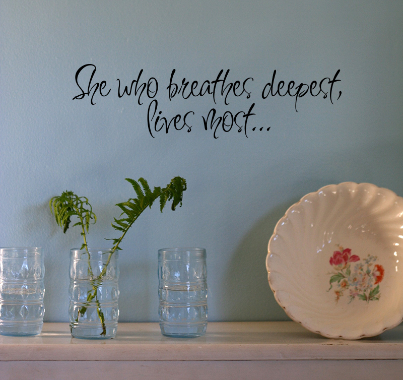 Breathes Deepest Wall Decal