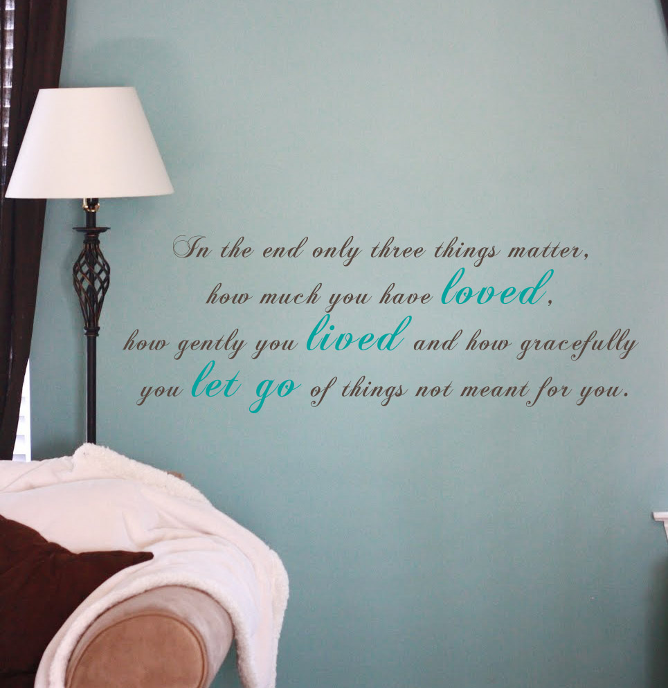 Three Things That Matter Wall Decal