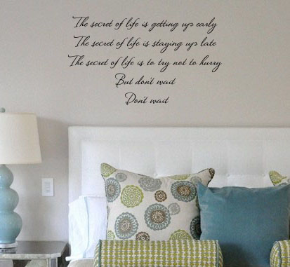 Secret to Life Wall Decal