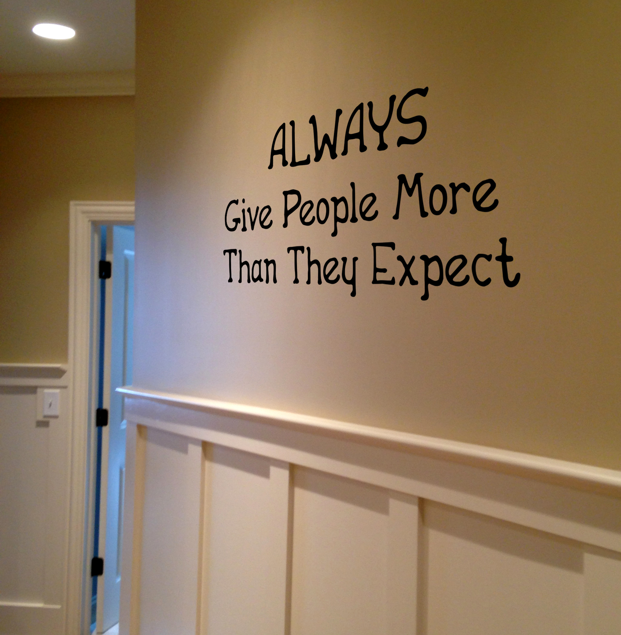 Always Give More Wall Decal