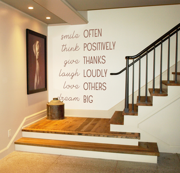 Smile, Think, Laugh Wall Decal
