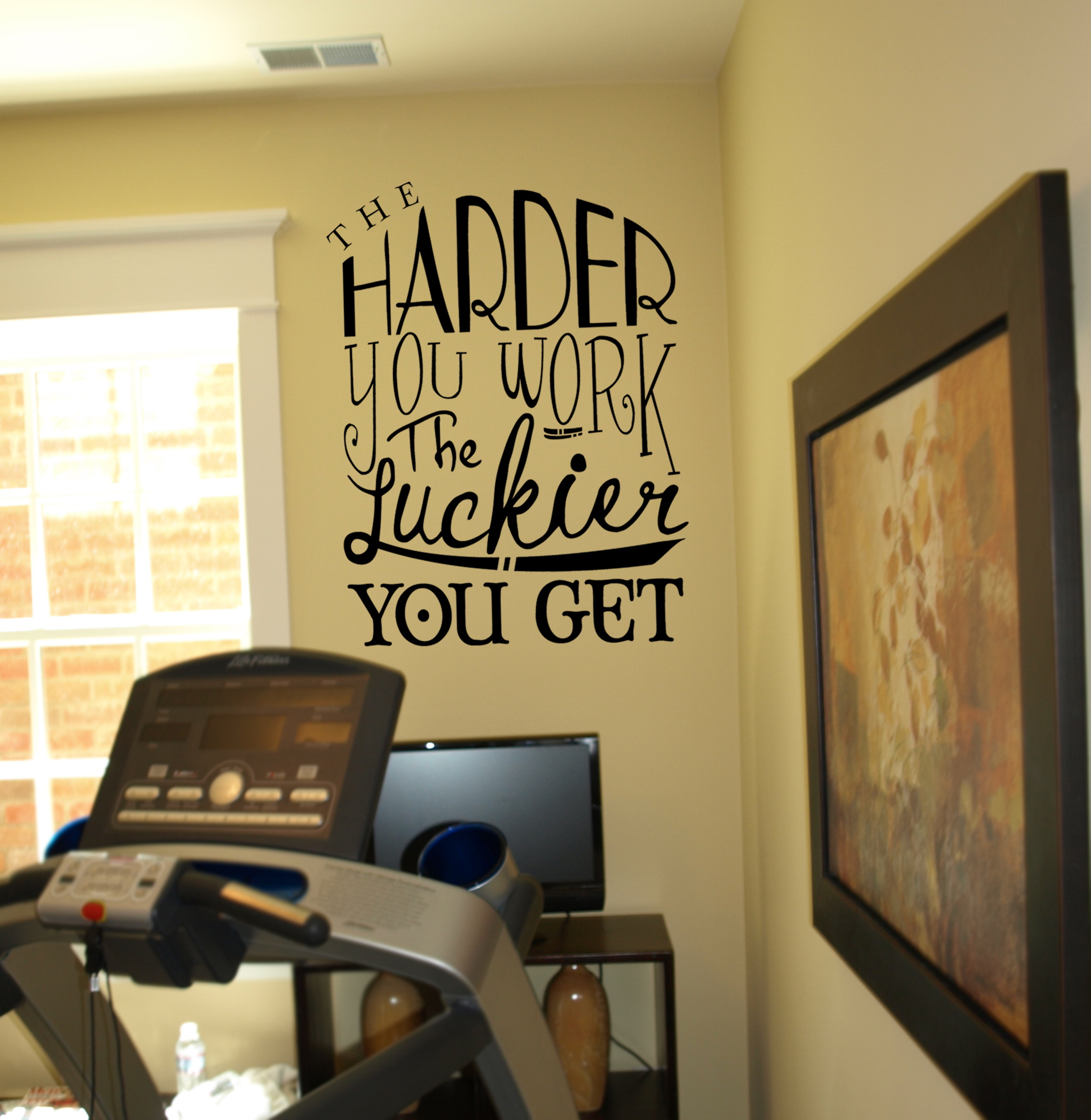 The Harder You Work Wall Decal