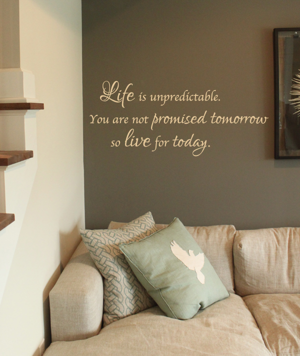 Life Is Unpredictable Wall Decal