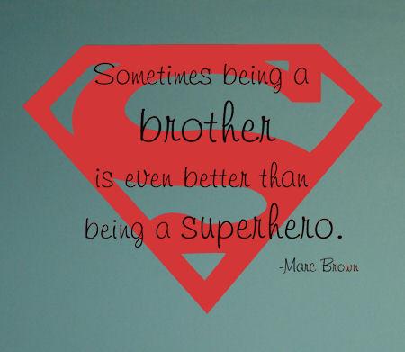 Superhero Brother Wall Decal Item