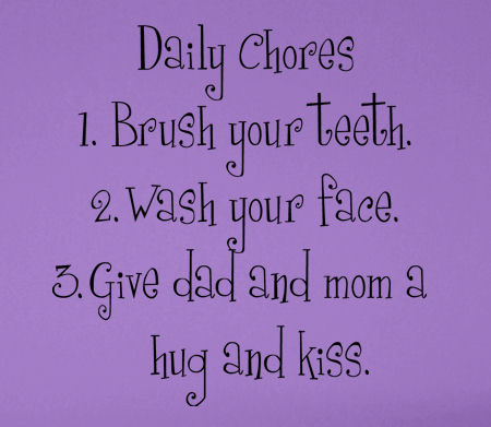 Chore List Wall Decal