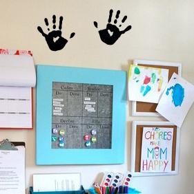 Hand Print Wall Decal