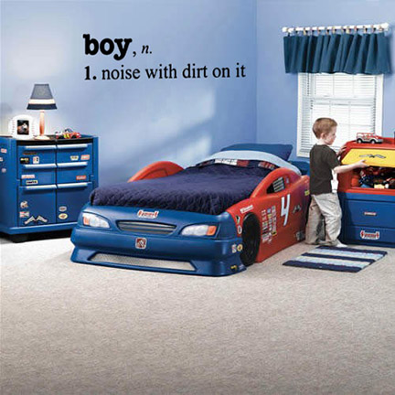 Boy Definition Noise With Dirt Wall Decal