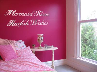 Mermaid Kisses Starfish Wishes Wall Decal