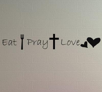 Eat Pray Love Image Wall Decal Item
