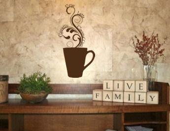 Steamy Coffee Mug I Wall Decal