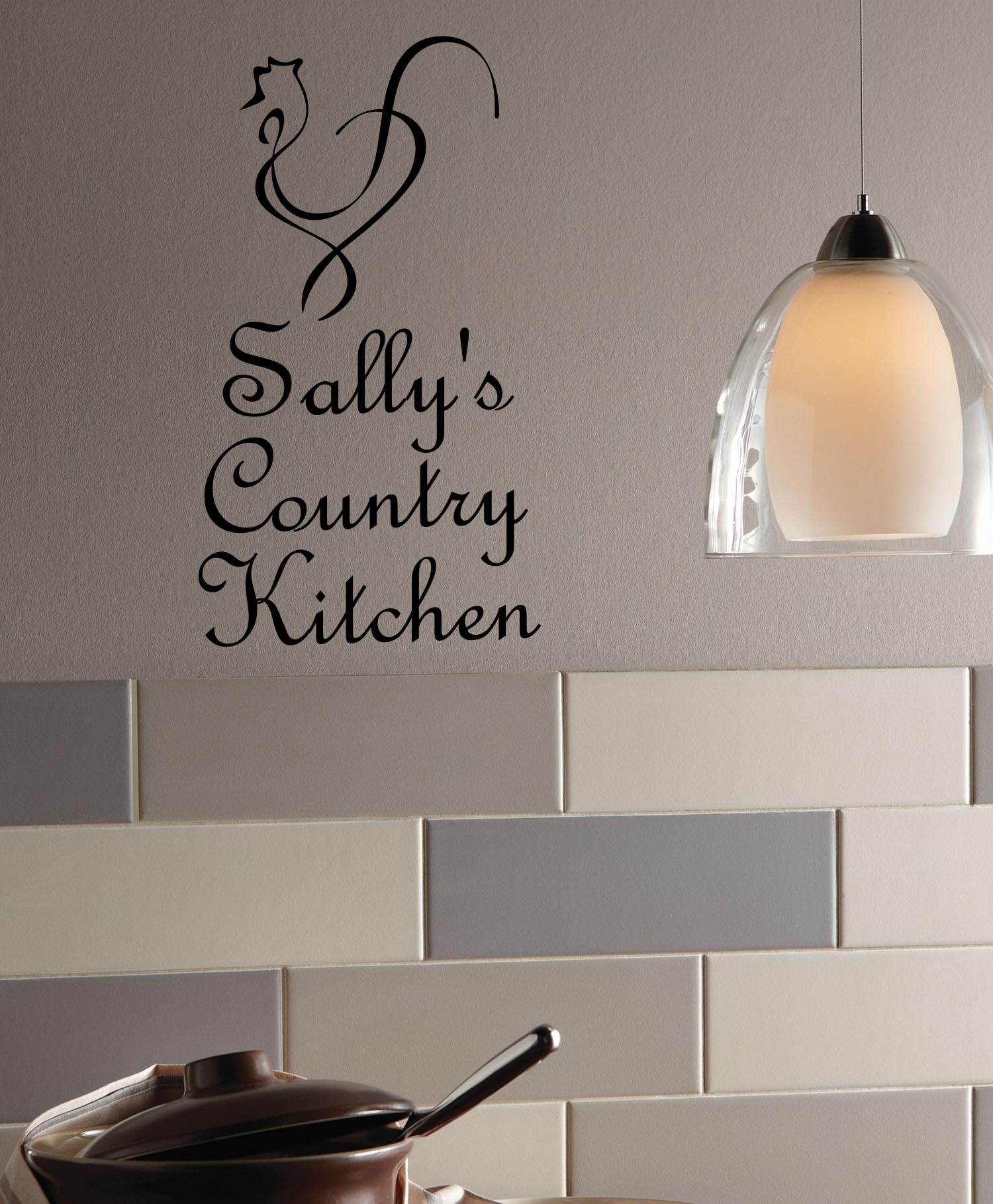 Custom Country Kitchen product reviews: custom country kitchen wall decal item