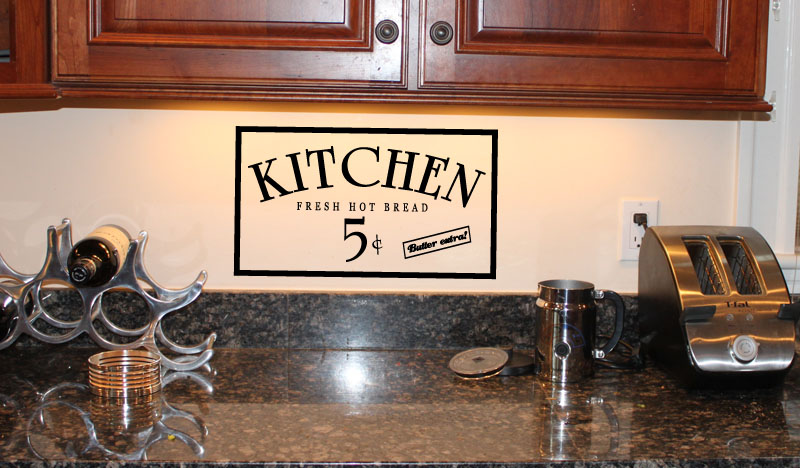 Kitchen Hot Bread Wall Decal