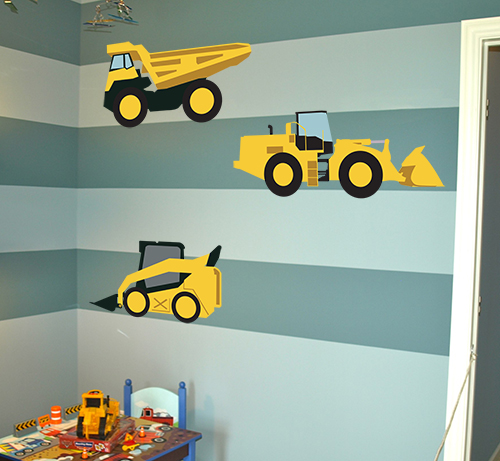 Construction Vehicles Printed Decal