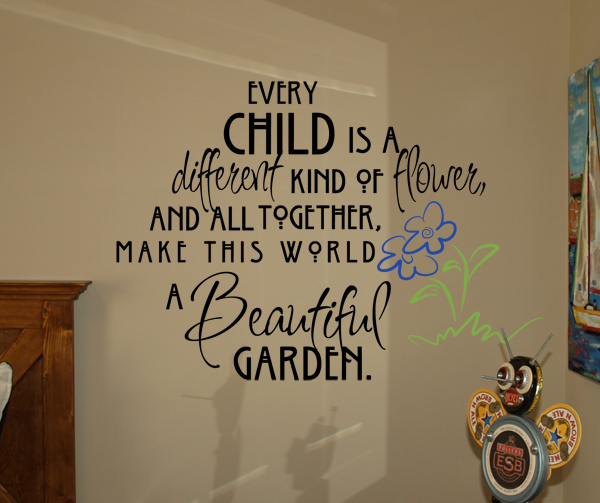 Every Child Is A Flower Alternate Wall Decals
