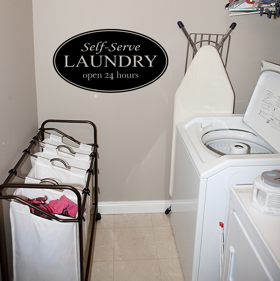 Laundry Self-Serve Wall Decal