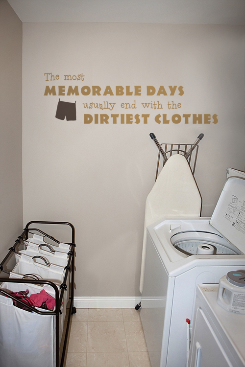 The Most Memorable Days II Laundry Wall Decal