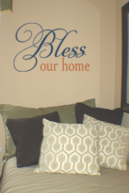 Bless Our Home Wall Decal
