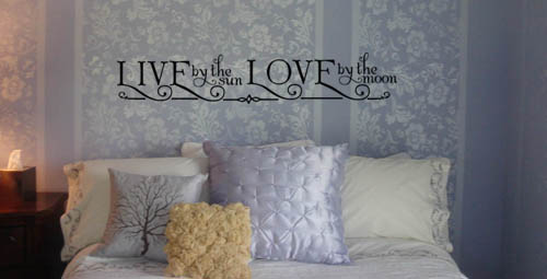 Sun Moon Wall Decal