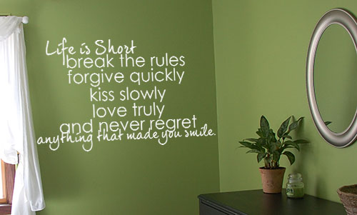 Life is Short Wall Decal