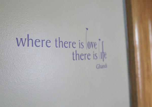 Ghandi  Love & Life | Wall Decals
