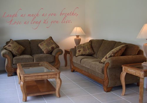 Love as Long as You Live Wall Decal