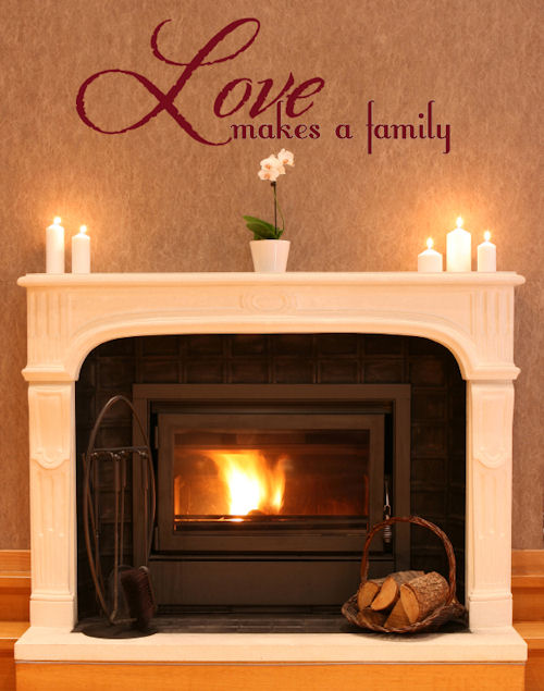 Love Makes a Family Wall Decal