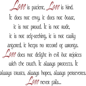Love Is Patient Love Is Kind | Wall Decal