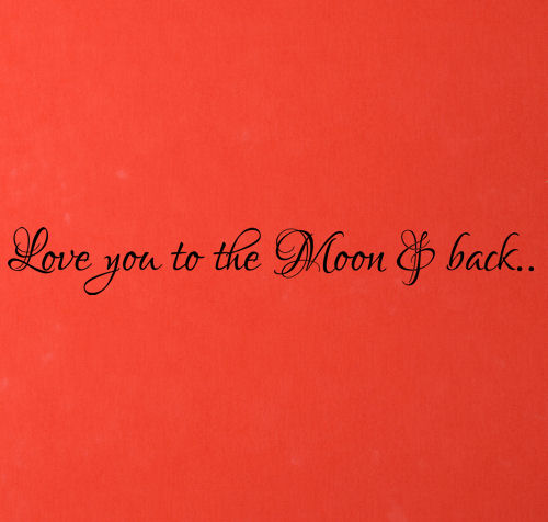 Love You To Moon And Back Cursive Wall Decal