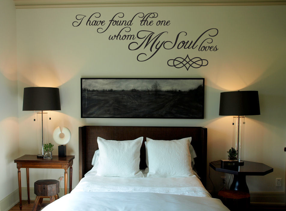 Whom My Soul Loves Wall Decal