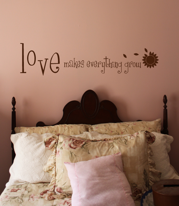 Love Makes Everything Grow Wall Decal