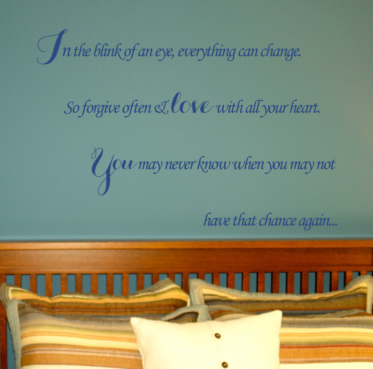 In the Blink of an Eye Wall Decal
