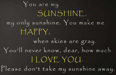 My Only Sunshine Wall Decals