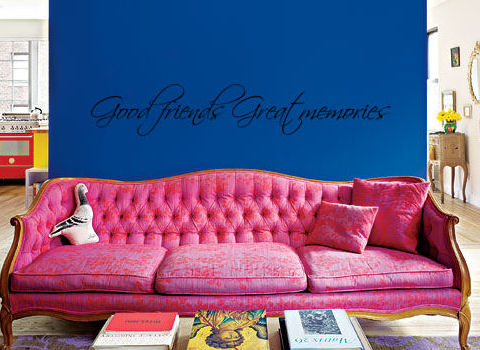 Good Friends Great Memories Wall Decal