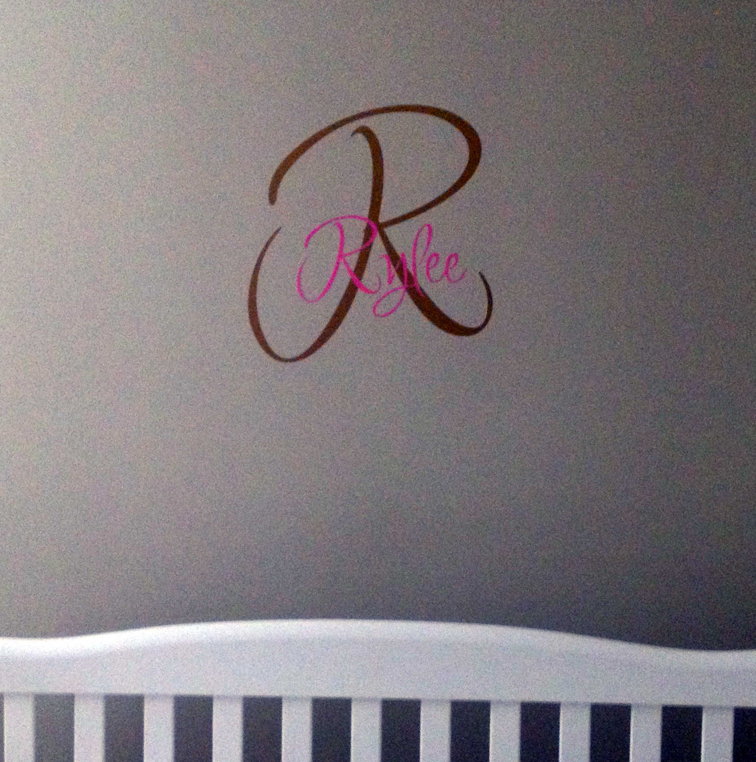 Name Initial Wall Decal