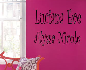 Two Curlz Names Wall Decal