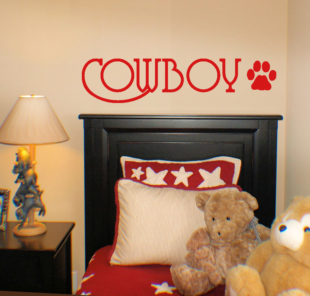 Name Dog Paw Wall Decal