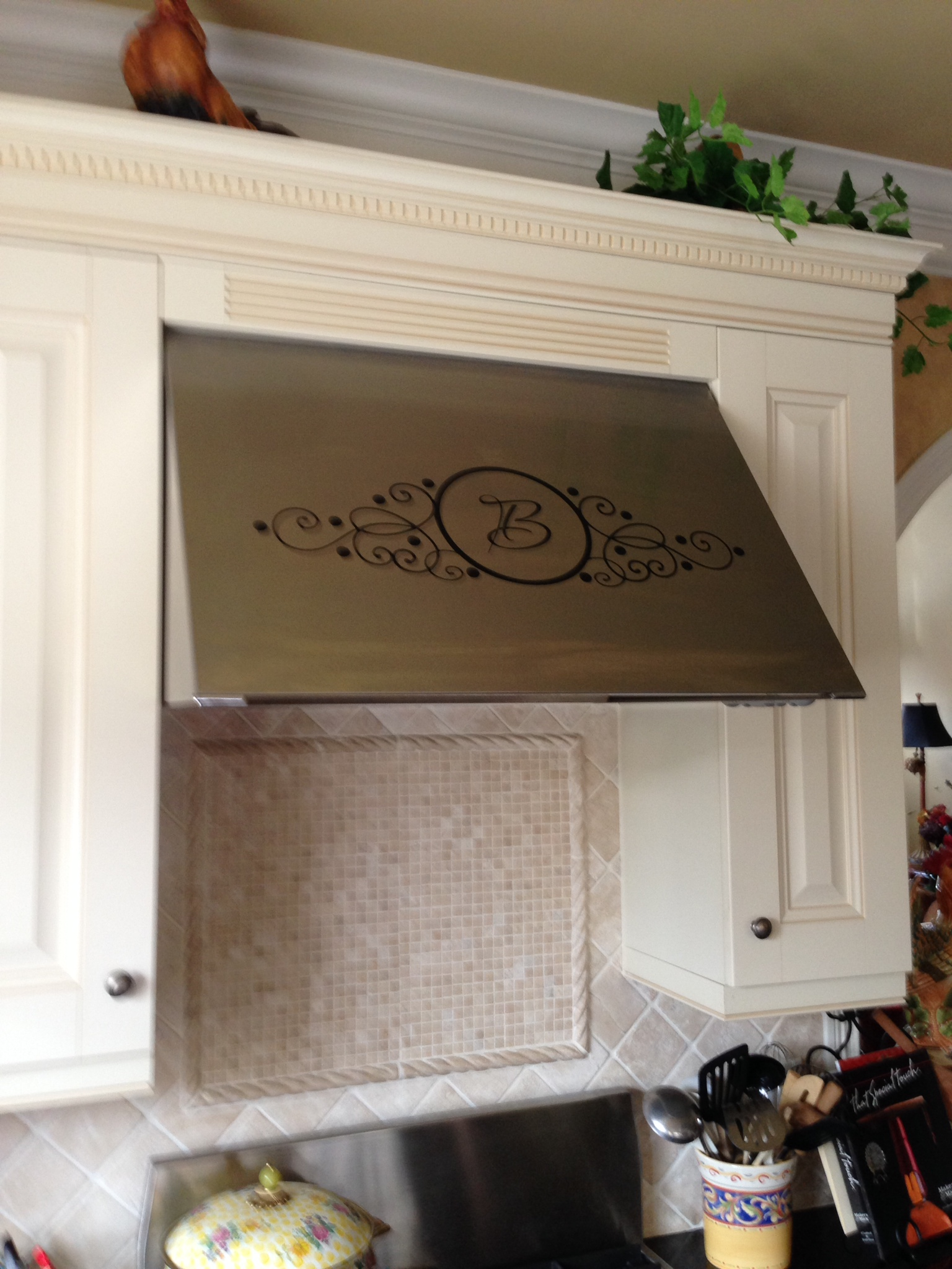 Wrought Iron Initial  Wall Decals