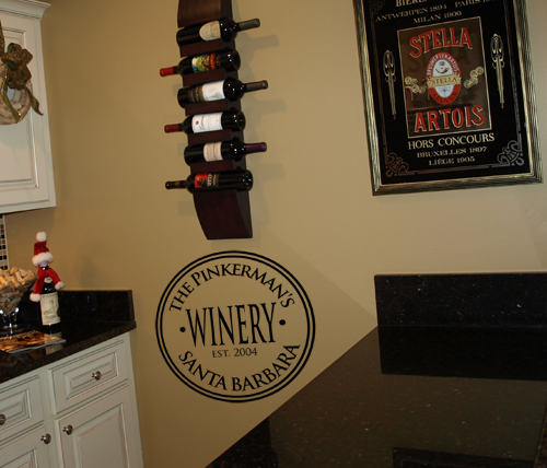 Personalized Brewery & Winery Wall Decal