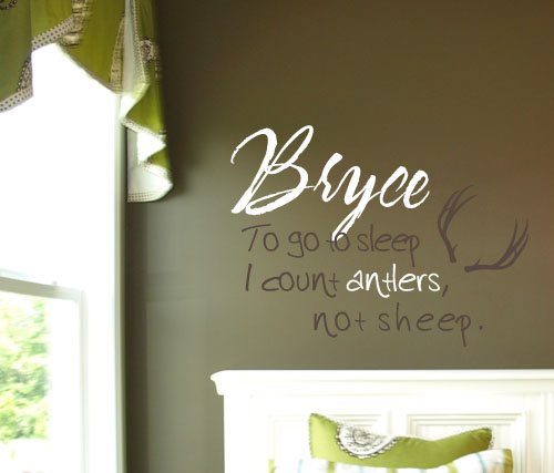 Antlers Monogram Wall Decal
