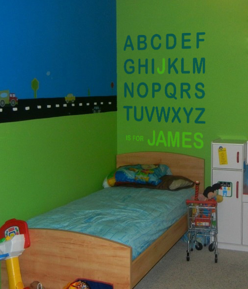 Alphabet Name Wall Decal