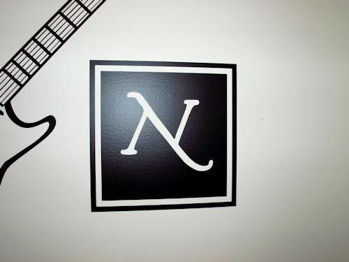 Block Monogram Wall Decal