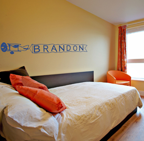 Airplane Banner Wall Decal