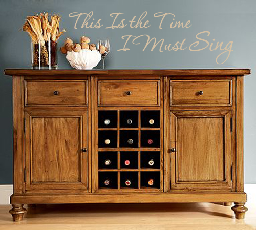 I Must Sing Wall Decal