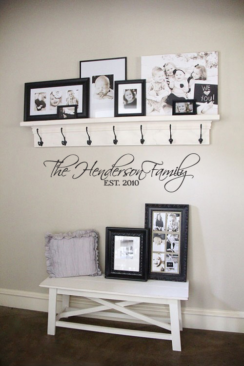 The Script Family Established Wall Decal