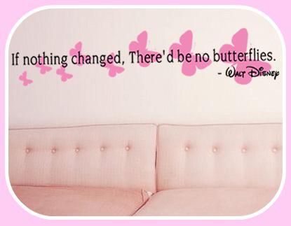 Change Butterflies Wall Decal