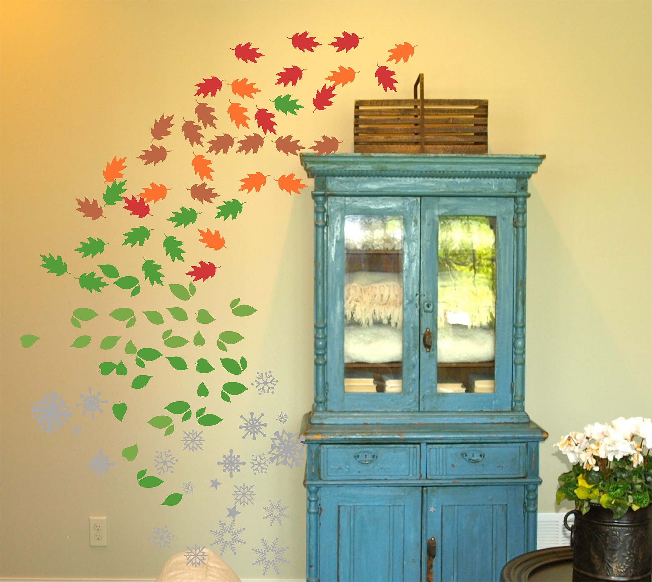 Seasonal Trees Extra Leaves Wall Decal