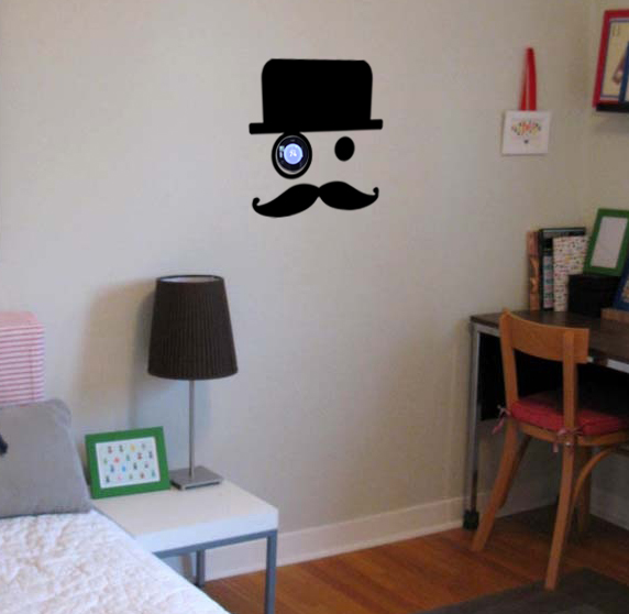Nest Monocle Mustache Wall Decal Trading Phrases