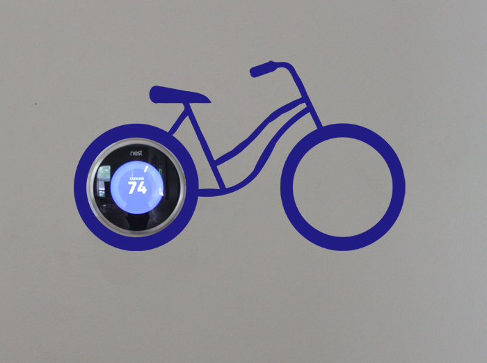 NEST Bike Wall Decal