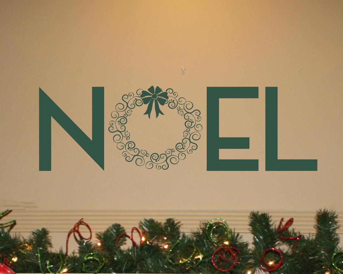 Noel Wreath Wall Decal