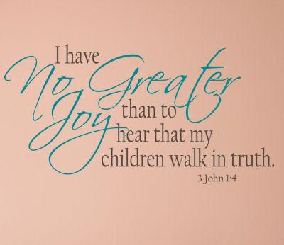 Children Walk In Truth Wall Decals
